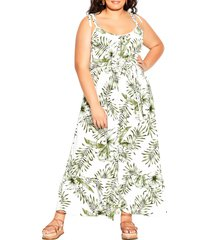 city chic in paradise maxi dress, size xx-small in paradise palm at nordstrom