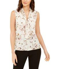 karl lagerfeld paris embellished tie-front blouse