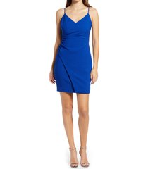 women's black halo esthero crepe body-con dress, size 2 - blue