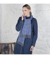 irish woven celtic scarf blue