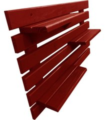 floreira vertical madeira alce couch vaso parede vermelho 60cm