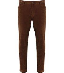 paolo pecora ribbed velvet trousers