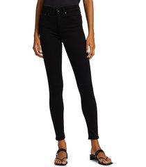 rag & bone women's nina high-rise skinny jeans - black - size 26 (2-4)