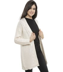 cardigan tricot crudo - calce regular