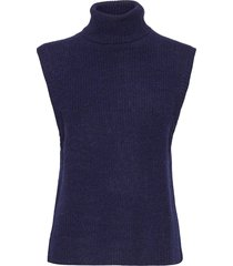 elisha neck waist coat vests knitted vests blauw norr