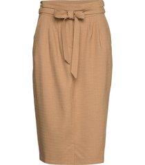 6253 - aran skirt knälång kjol beige sand