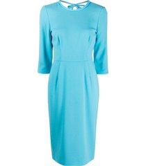 goat jerry pencil dress - blue