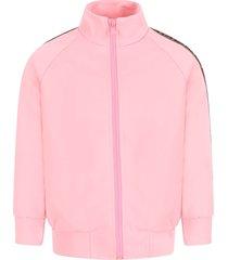 fendi pink girl sweatshirt with iconic double ff