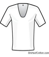 shirtsofcotton heren t-shirt wit extra diepe v-hals 2-pack