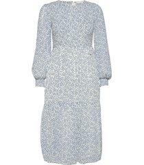 nucaltum dress knälång klänning blå nümph