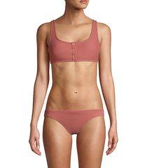 front-snap bikini top