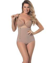cinta mondress lingerie modeladora pós-parto zíper e abertura bege