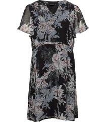 mdua, s/s, dress jurk knielengte multi/patroon zizzi
