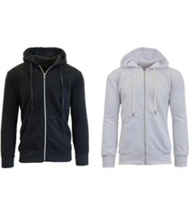 galaxy by harvic men's 2-packs zip-up fleece hoodies