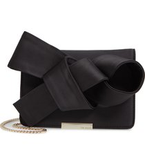 ted baker london janyce twisted bow clutch - black