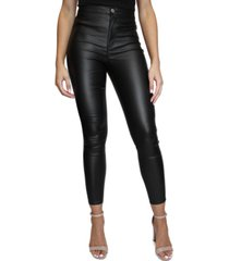 almost famous juniors' coated high-rise skinny jeans