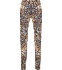 calça legging longa recortes degradê memo - marrom
