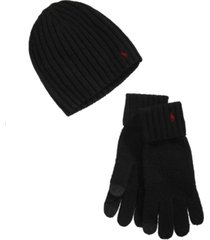 polo ralph lauren men's hat & glove gift, created for macy's