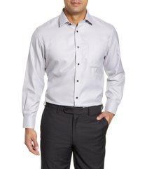 men's nordstrom men's shop smartcare traditional fit chevron dress shirt, size 15 - 32/33 - grey