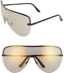 women's rad + refined mirrored shield sunglasses - bronze