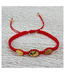 amber braided bracelet, 'amber passion' (mexico)