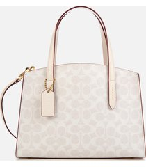 coach women's signature charlie 28 carryall tote bag - chalk