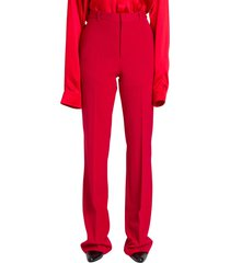 balenciaga tailored pants in red stretch tailoring twill
