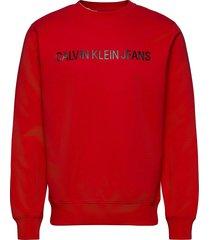 institutional logo sweatshirt sweat-shirt trui rood calvin klein jeans
