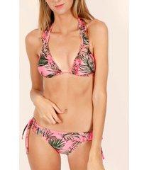 bikini admas 2-delige driehoek bikiniset fluor leaves roze adma's