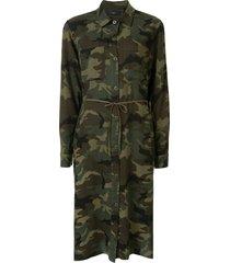 amiri camouflage print shirt dress - green