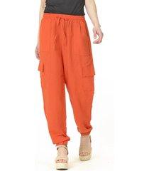 pantalón bombacho liso italiano naranjo bous