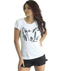 camiseta mujer blanco marfil moda