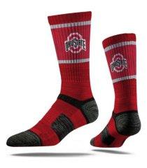 strideline ohio state buckeyes comfy calf sub crew socks