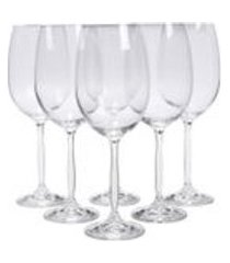 jogo de tacas para vinho bordeaux chanson cristal eco 755 ml 6 pecas - bohemia