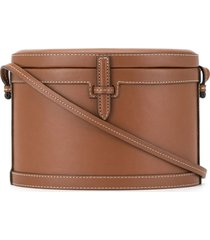hunting season the round trunk crossbody bag - brown
