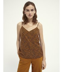 maison scotch 162162 jersey and woven tank top