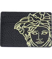 versace designer men's bags, card holder with medusa logo