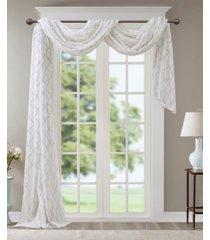 "madison park irina 50"" x 216"" embroidered diamond sheer window scarf"