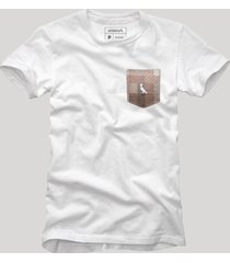 camiseta bolso xadrez quadrilha reserva branco