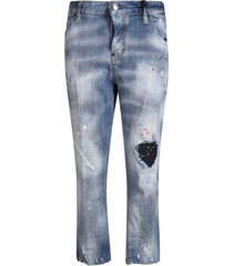 distressed detail jeans dsquared2