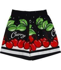 monnalisa cherries print shorts