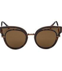 bottega veneta women's 49mm cat eye sunglasses - dark havana
