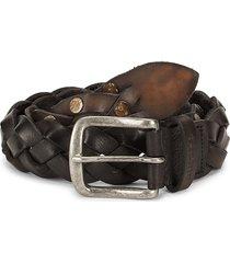 diesel men's b-brayd braided leather belt - black - size 80 (32)