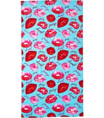 "juicy couture kisses beach towel, 36"" x 68"" bedding"