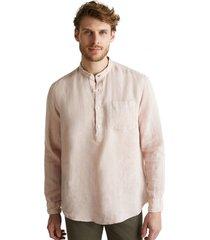 camisa 100 % lino rosado esprit