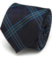 star wars vader icon modern plaid men's tie