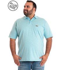 camisa polo konciny plus size ciano