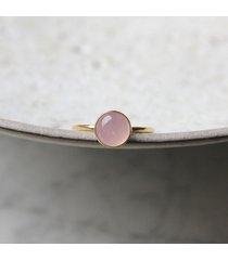pierścionek z kwarcem różowym