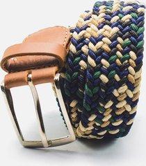 cinturón trenzado tela multicolor