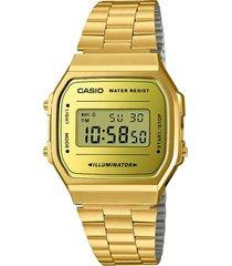 reloj casio a_168wegm_9 dorado acero inoxidable